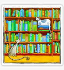 Literary Felines Sticker