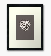Love Biking Framed Print