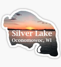 Sunset on Silver Lake, Oconomowoc, WI Sticker