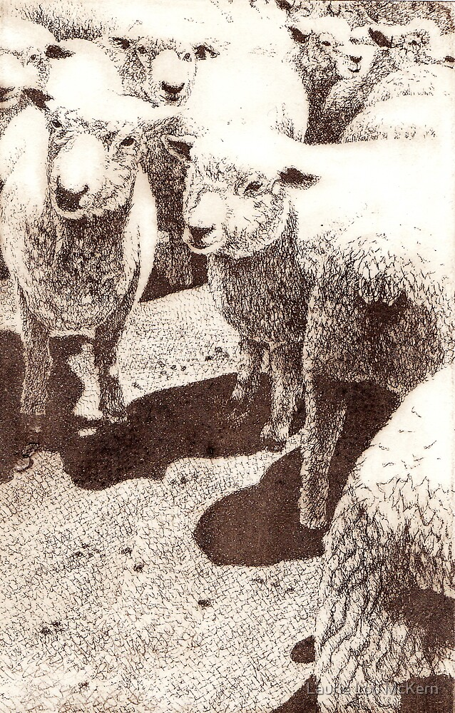 Sepia Sheep by Laurie Lou McKern
