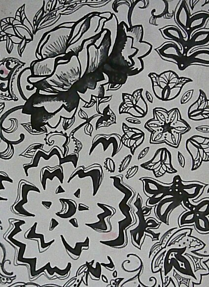 pen and ink pattern design by Coby .