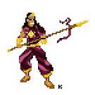God of War - Karthikeya Pixel Art by artkarthik