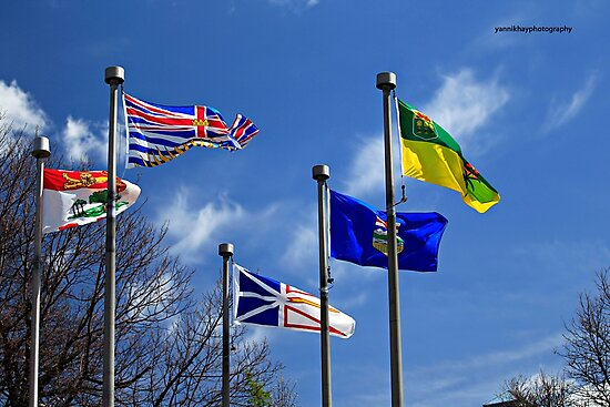 Colourful Flags - Garden of the Provinces and Territories by Yannik Hay