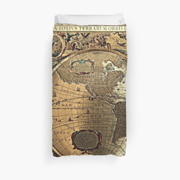 Old Map Duvet Cover