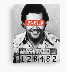 Pablo Escobar x Supreme Canvas Print