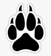 Wolf Paw Sticker Redbubble