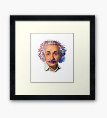Albert Einstein - Galaxy Framed Print