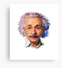 Albert Einstein - Galaxy Canvas Print