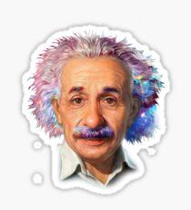 Albert Einstein - Galaxy Sticker