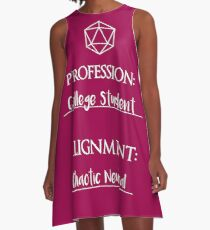 College students are chaotic neutral A-Line Dress