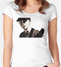 GUITAR BOY - urban ART Women's Fitted Scoop T-Shirt