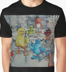 Ghetto Sesame Streets Graphic T-Shirt