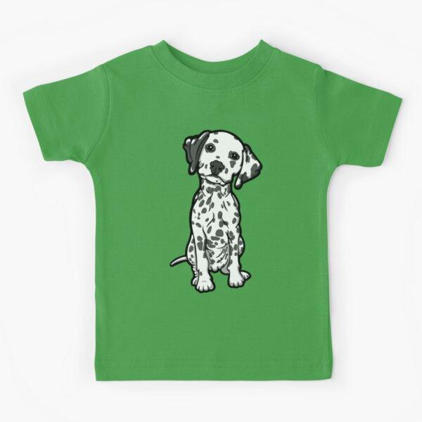Dalmatian White Grey Spots Kids T-Shirt