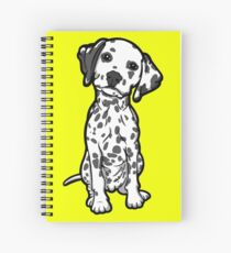 Dalmatian White Grey Spots Spiral Notebook