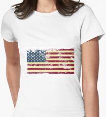T-shirt Flag EUA - Vintage Womens Fitted T-Shirt