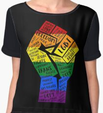 National March Of Pride Fist Chiffon Top
