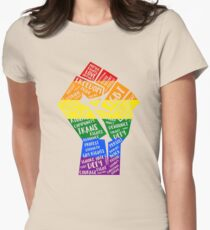 National March Of Pride Fist Womens Fitted T-Shirt