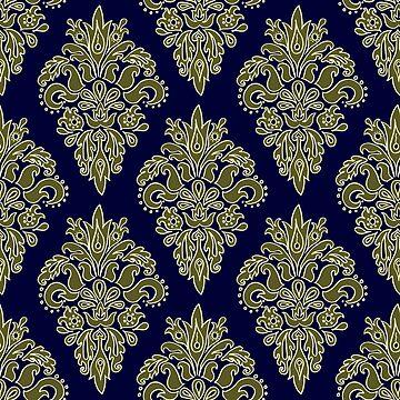 Ornate Vintage Pattern by julieerindesign