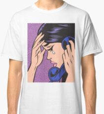 Telephone Crying Comic Girl Classic T-Shirt