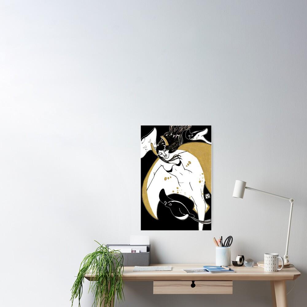 Golden Rays Poster