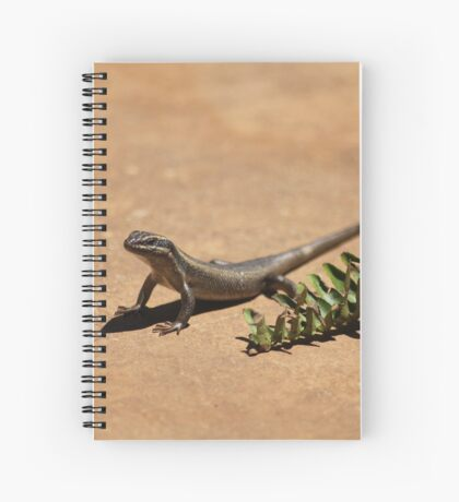 Interacting with wildlife - African Striped Skink Spiral Notebook