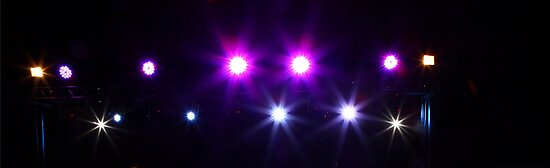 Coloured stage lights and smoke by PhotoStock-Isra