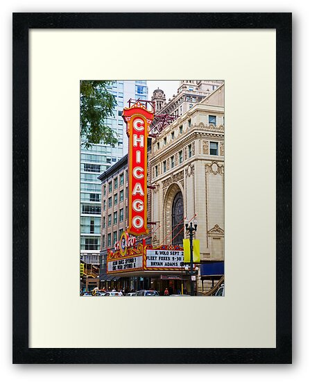 The Chicago theatre, Chicago, Illinois, USA by PhotoStock-Isra