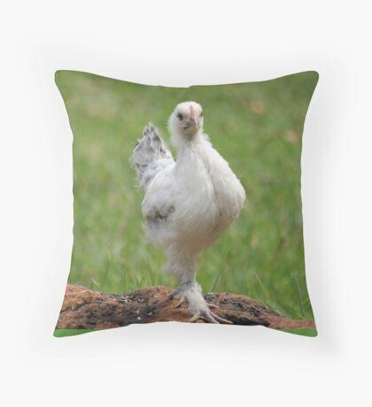 Farm talk - Snoodles, a chick with attitude! Throw Pillow