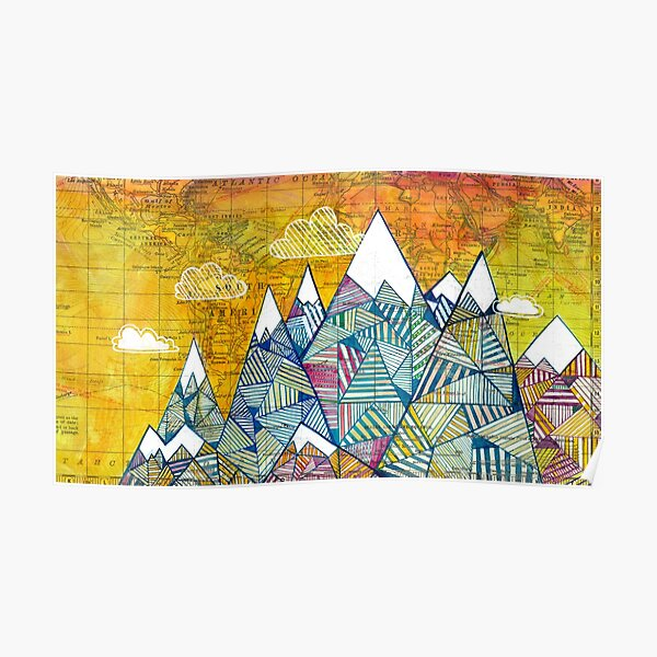 Maps and Mountains Poster