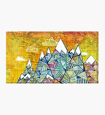 Maps and Mountains Photographic Print