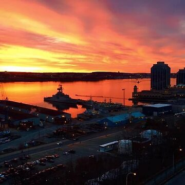 Halifax Harbor Sunrise by gesau