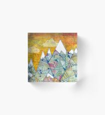 Maps and Mountains Acrylic Block