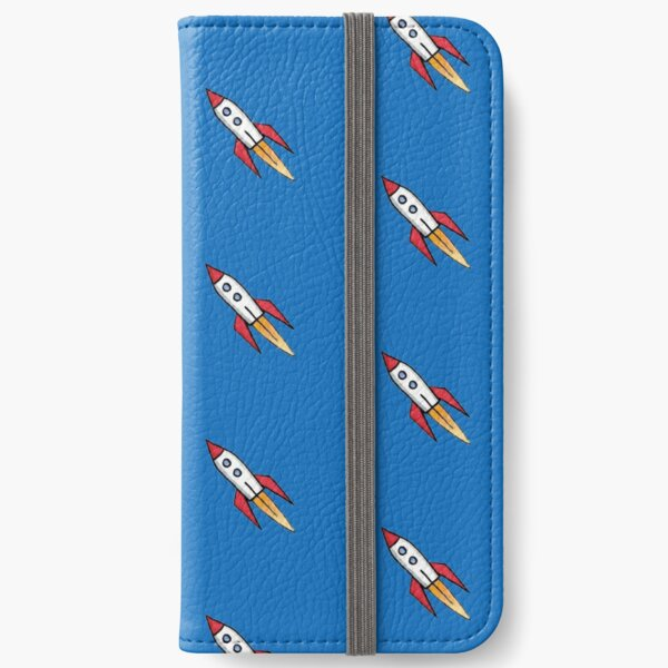 Little Rocket (on blue) iPhone Wallet