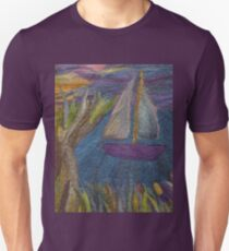 Little boat on the river – 1 Unisex T-Shirt