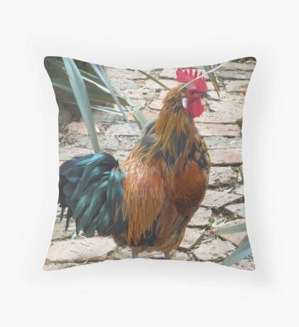 Farm talk - Half a beauty Throw Pillow