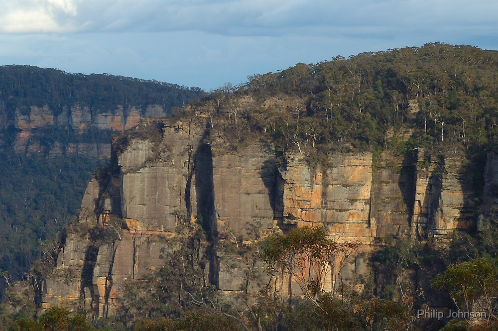 The First Step Is a Doozy - Blue Mountains World Heritage Area, Sydney Australia by Philip Johnson
