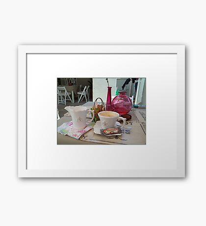 My daily fix at Bistrot de Paris and Une Belle-Vous Framed Print