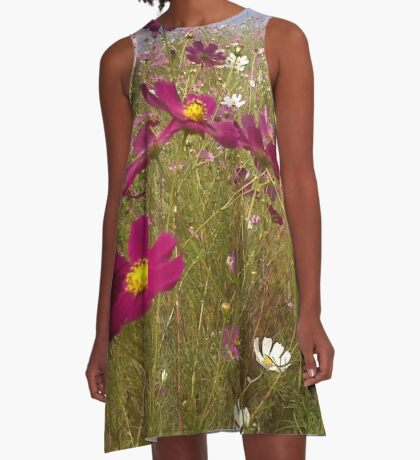 Crawling among the Cosmos A-Line Dress