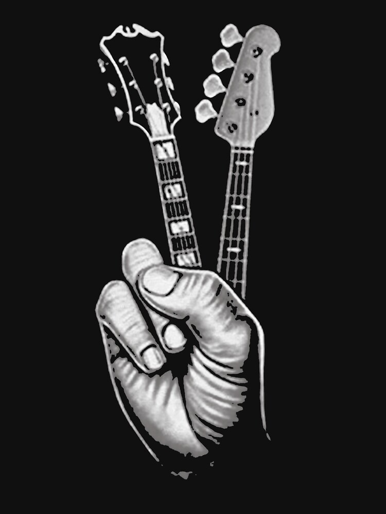 BASS GUITAR SHIRT FINGER GUITAR SHIRT by Fantasticguitar