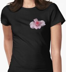 bridal pink rose Womens Fitted T-Shirt