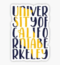 UC Berkeley - Style 21 Sticker