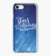To the stars who listen and the dreams that are answered - ACOMAF iPhone Case/Skin