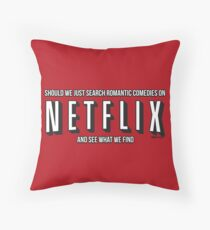 Woman / Netflix Throw Pillow