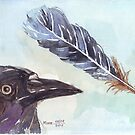 A Crow's Wing Feather by Maree Clarkson