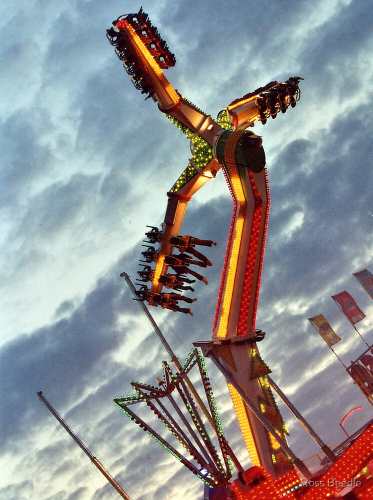 Wild night ride at the funfair by Ross Beedle