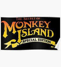 Monkey Island (S. Ed.) logo Poster
