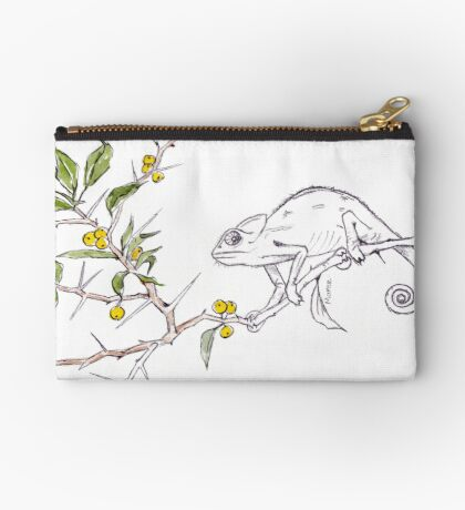 Kei-apple and a Chameleon - Botanical illustration Zipper Pouch