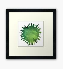 The Green Forest Planet Framed Print