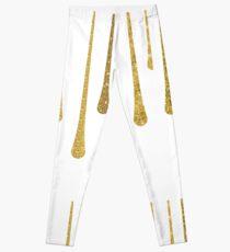 Leggings Gotas de pintura de oro brillo