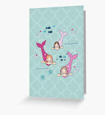 Three Mermaids Greeting Card